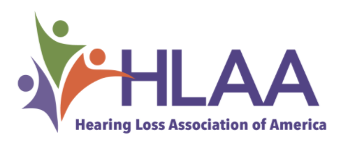 Hearing Loss Association logo of America logo Logo